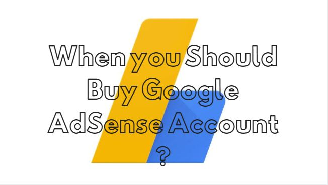 Buy Google AdSense Account ?