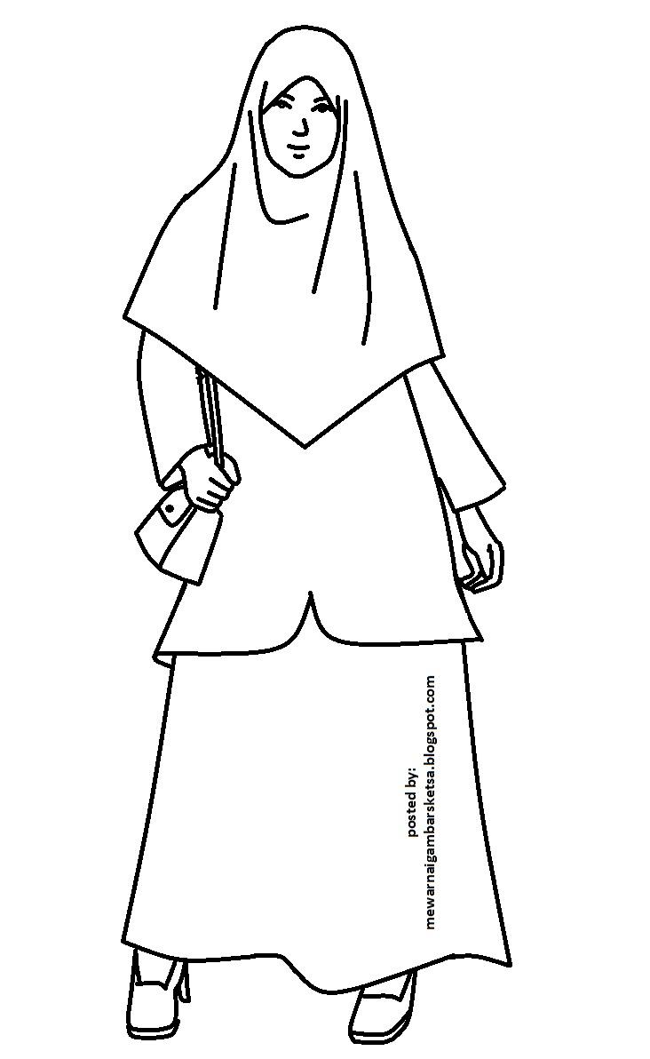 Mewarnai gambar muslim coloring muslimah cewek keren gadis el cewek el kartun muslim coloring angels coloring princess moslem beautiful girl