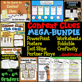 Context Clues Activities (especially designed for 4th, 5th, and 6th grade students!)