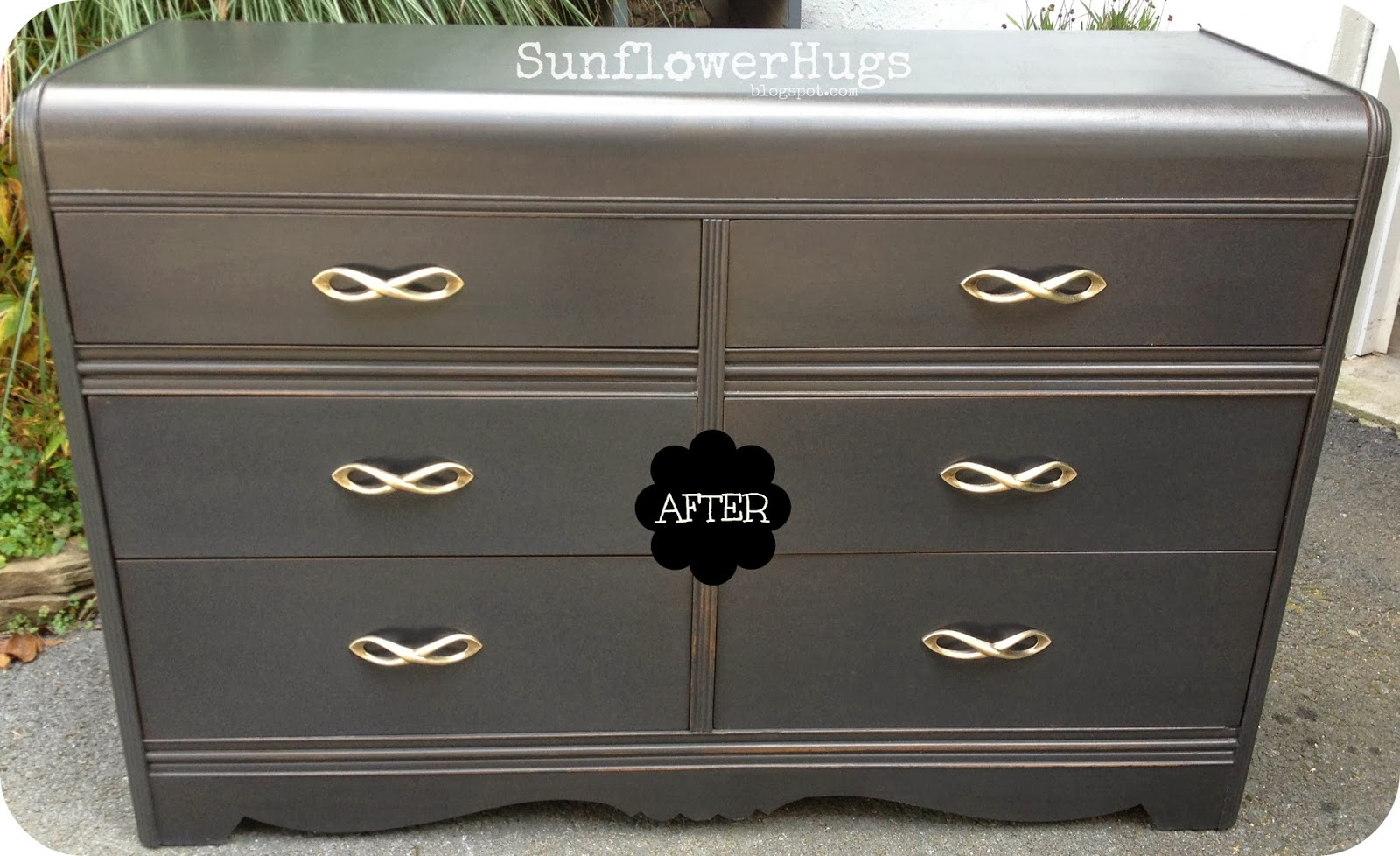 SunflowerHugs: Black Waterfall Dresser