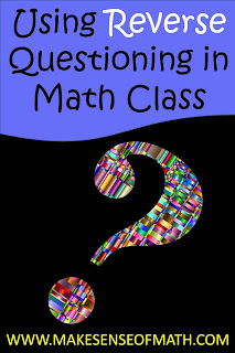 Great ideas to engage your middle school math students on a higher-level thinking.  Change your questioning and help your algebra students delve deeper into the content.