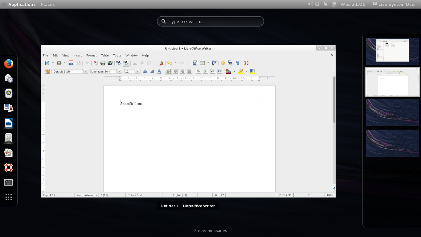 Das U-Blog by Prashanth: Review: Scientific Linux 7 0 GNOME