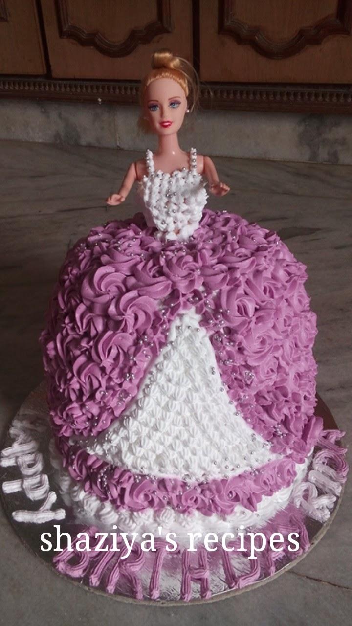 Shaziyasrecipes Barbie Doll Cake Recipehow To Make Babrie Doll Cake