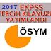 EKPSS Tercih kılavuzu yayınlandı