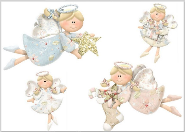 Angels of the Charming Christmas Clip Art.