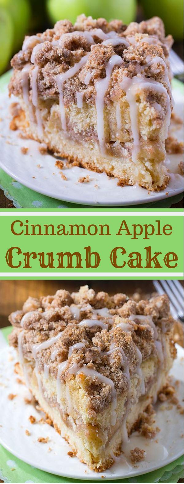 Cinnamon Apple Crumb Cake #Cake #Dessert