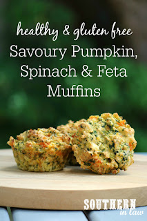 Savoury Pumpkin, Spinach and Feta Muffins Recipe
