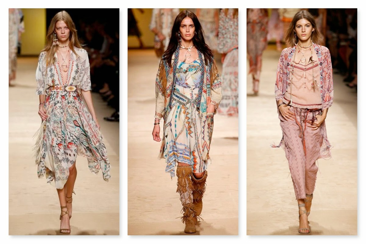 245c3b85fa9bc5 For Spring/Summer 2015, Etro's inspiration was centred around Native  American heritage and culture. From the feathers and fringe to the prints  and beading, ...