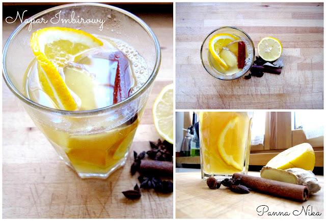 napój imbirowy | imbir | rozgrzewający | na przeziębienie | jesień | zima | korzenne