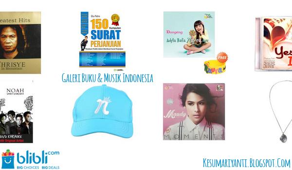 #BlibliGaleriIndonesia Produk Kreatif Asli Indonesia - Galeri Buku & Musik Indonesia