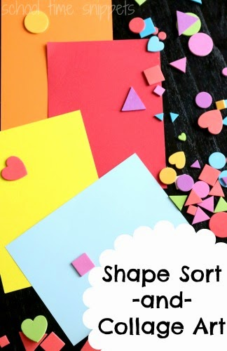 shapes collage for kids