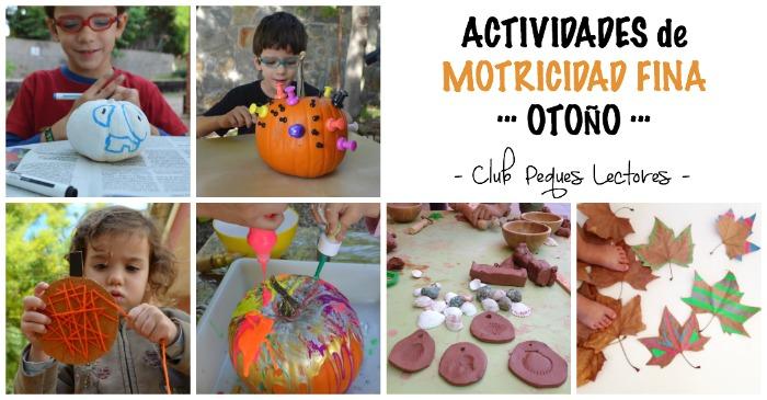 actividades, manualidades niños motricidad fina otoño