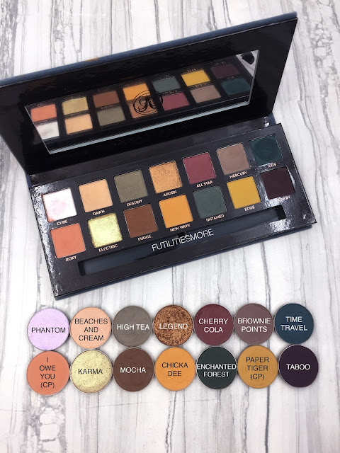 Anastasia Subculture palette dupes with Makeup Geek and Colourpop eyeshadows, futilitiesmore, futilitiesandmore