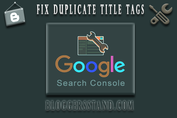 Fix duplicate title tags problem error from google search console in webmaster tool