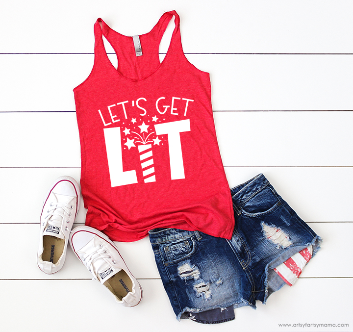 Let's Get Lit Shirt with 16 Free Patriotic Cut Files