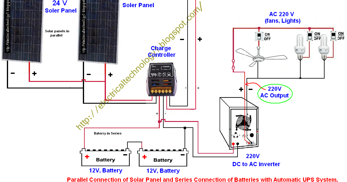 electrical technology how to wire two 24v solar panels in boat switch wiring diagram 12v boat wiring diagram 12v