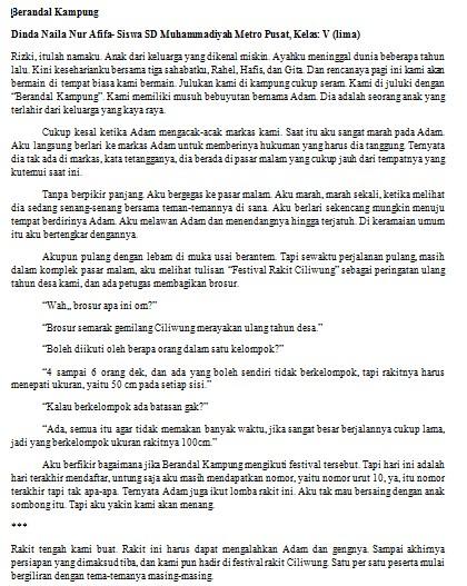 Contoh Cerita Pendek 500 Kata - Menulis Indonesia