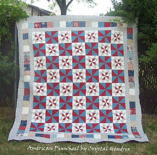 American Pinwheels Quilt Free Tutorial designed by Crystal Hendrix from Hendrixville for Modabakeshop