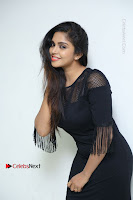 Telugu Actress Karunya Chowdary Latest Stills in Black Short Dress at Edo Prema Lokam Audio Launch .COM 0074.JPG