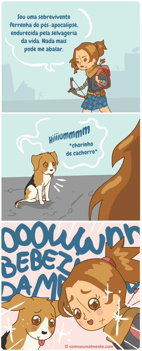 Nada me abala, menos chorinho de cachorro