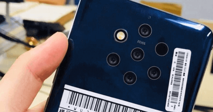 Nokia 9 Smartphone Packing Five Rear Camera Lens Image Leaked