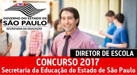 Concurso SEE-SP 2017 Diretor de Escola