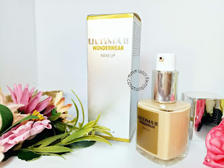 review ultima II wonderwear make up liquid foundation