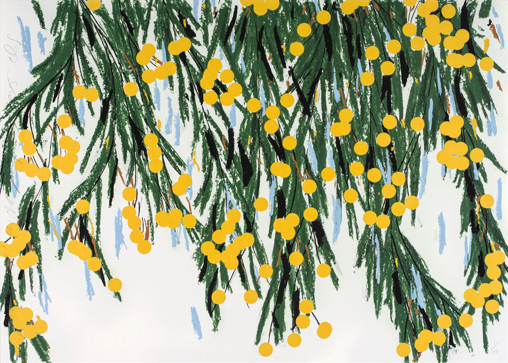 Yellow Mimosa July 23, 2015 - Donald Sultan, Royal Academy Summer Exhibition 2017