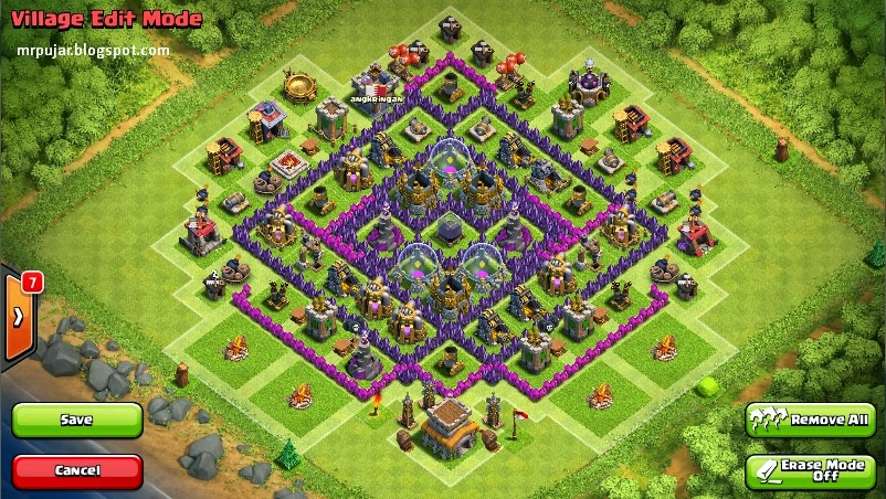 Cara Membuat Base Coc Th 8 9