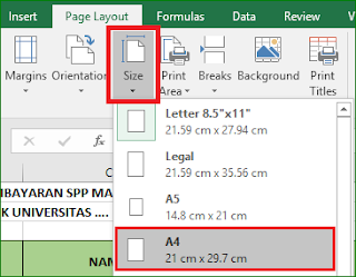 Cara Cepat Mencetak dengan Print Area excel