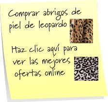 comprar abrigos de leopardo