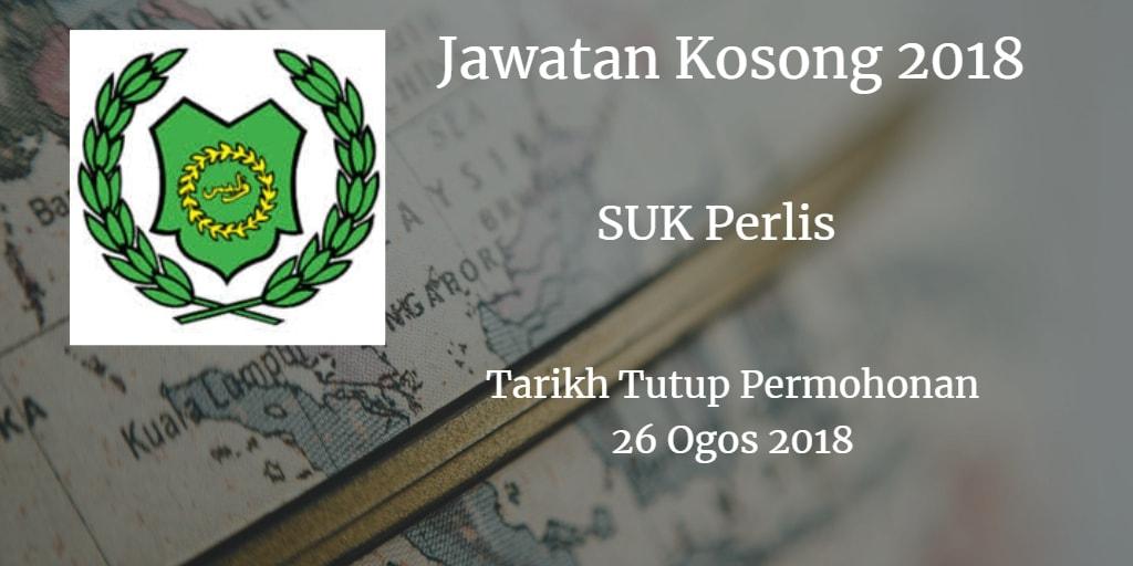 Jawatan Kosong SUK Perlis 26 Ogos 2018
