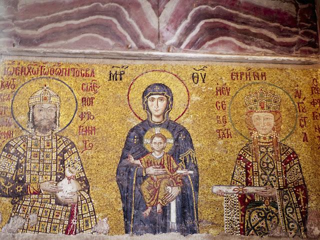 Santa Sofía, Mosaico de Comneno e Irene