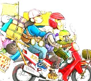 gambar dp bbm mudik pulang kampung naik motor