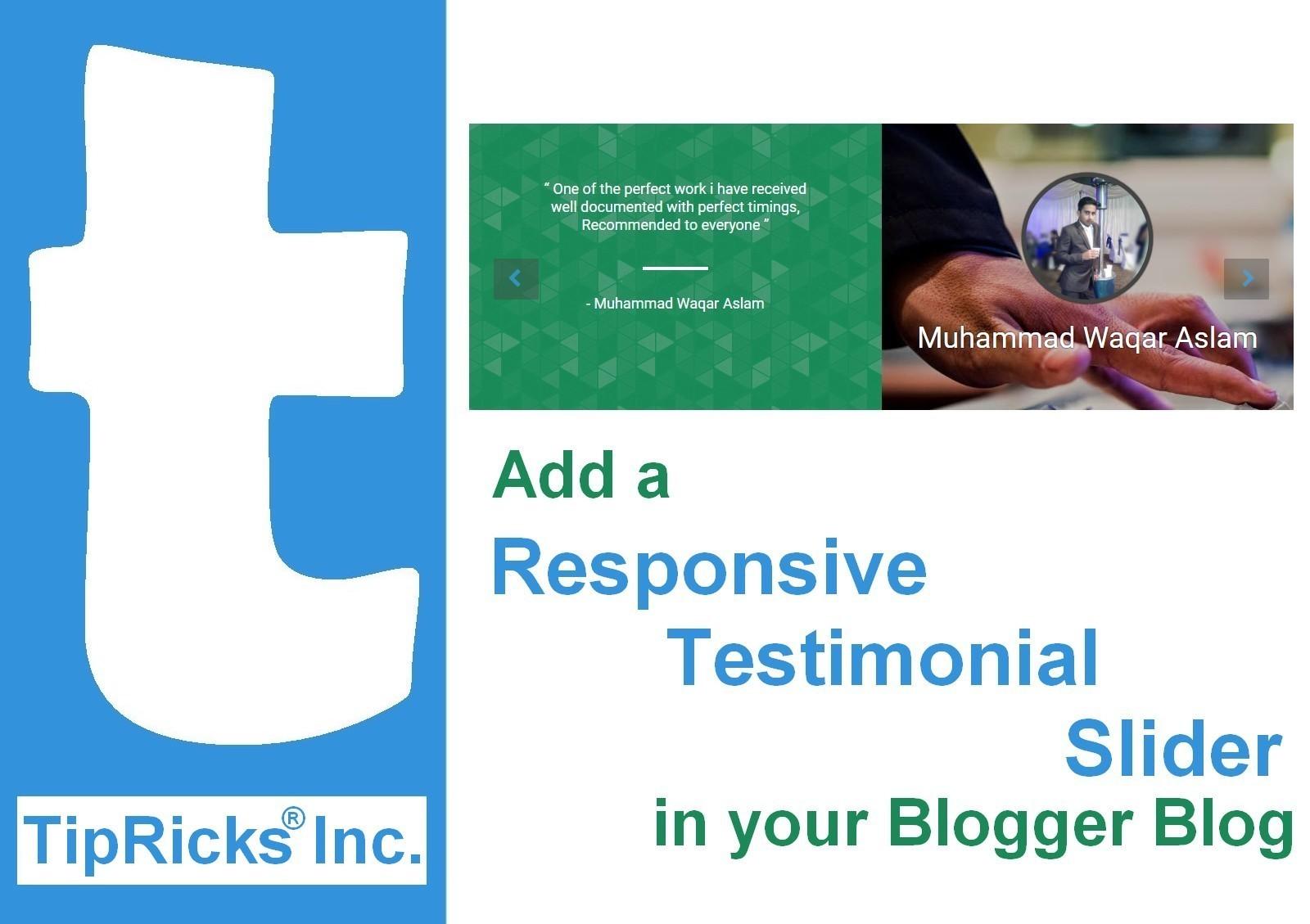Add a Responsive Testimonial Slider in Your Blog/Website