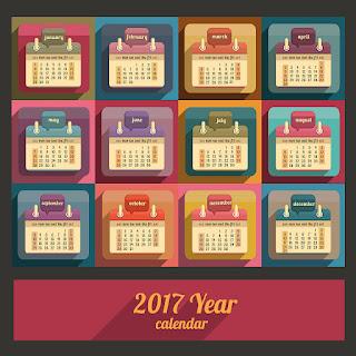 2017カレンダー無料テンプレート159