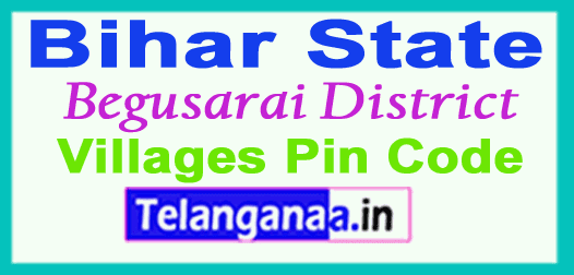 Begusarai District Pin Codes in Bihar State