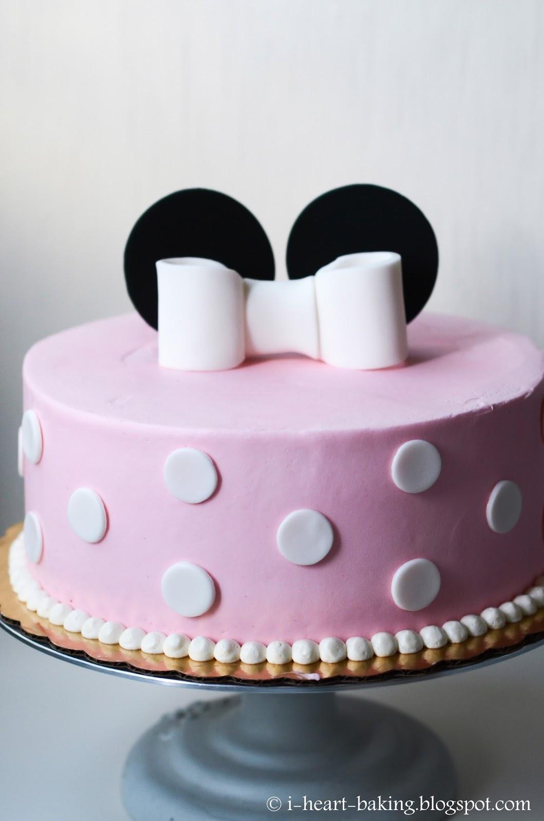 I Heart Baking Minnie Mouse Cake