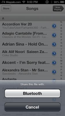 Airblue Sharing Bluettoth Di iPhone