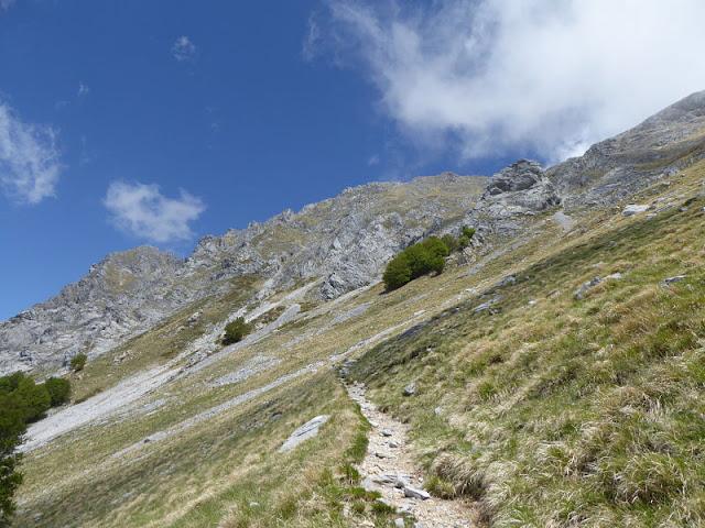 sentiero che porta alla Pania della Croce