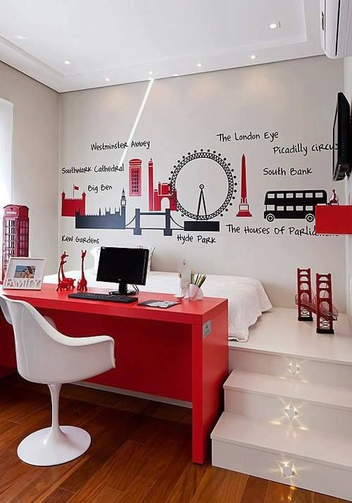 Habitaciones juveniles for Mural habitacion juvenil