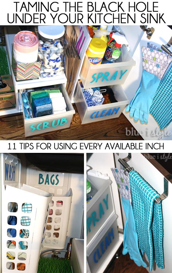 How I Organized Around And Under My Kitchen Sink