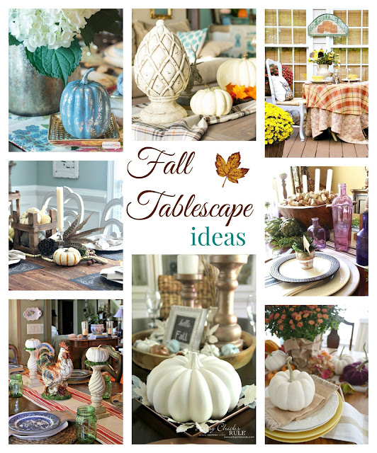 Beautiful fall tablescape ideas ~ Postcards from the Ridge