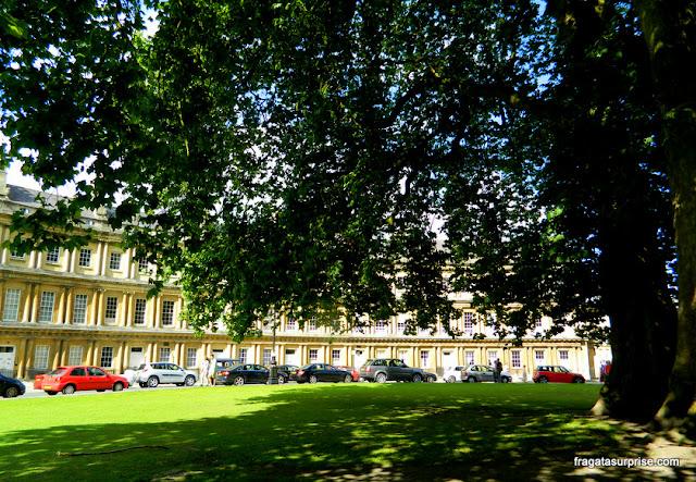 The Circus, conjunto arquitetônico em estilo georgiano em Bath, Inglaterra