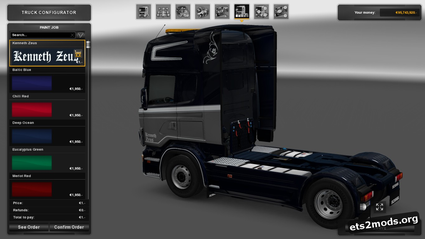 Kenneth Zeus Skin for Scania RJL