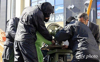 Judicial amputation of a hand carried out in public, Iran (file photo)