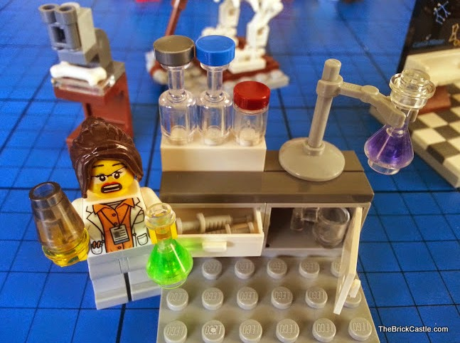 LEGO Ideas Research Institute set 21110 female chemist scientist