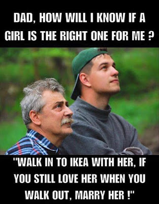 ikea funny, ikea joke, ikea meme, ikea marry her, ikea dating advice, dating advice, dad son marriage advice