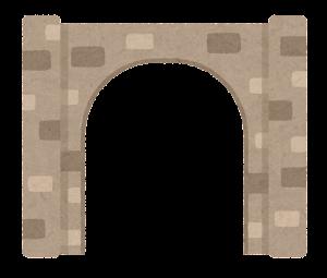 門のイラスト(西洋・開)