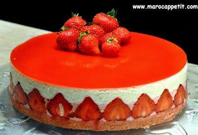 Bavarois aux fraises   Bavarois Strawberry
